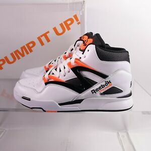 Size 10 Men's Reebok Pump Omni Zone II Basketball Shoes G57540 White/Orange