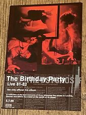 More details for the birthday party (nick cave) *rare* promo postcard 4ad for live 81-82 lp 1999
