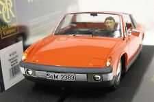 SRC 02006 PORSCHE 914 ORANGE STREET CAR NEW 1/32 SLOT CAR IN DISPLAY CASE
