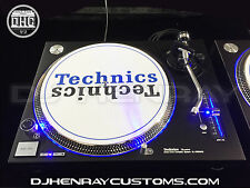 2 custom matte black Technics SL 1200 mk5's with blue leds blue halo/pitch leds