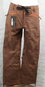 Nikita Sol Two Tone Ski and Snowboard Pants Women's Small Bombay Brown New