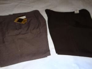 2 lot  Pair of Men's Botany 500 Brown Dress Pant Slacks Tags 36W x 30L LOT