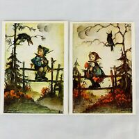 Vintage Hummel Postcard Lot of 2 Joseph Mueller 5327 5328 Made in Germany