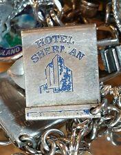 HOTEL SHERMAN MATCHBOOK IN CHICAGO STERLING SILVER CHARM FOR BRACELT .925