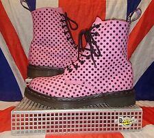 Rare Pascal 1460*Bubblegum Pink Black Polkadot Dr Doc Martens*Kitsch Kawaii*UK 6