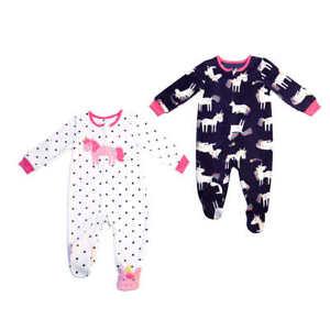 Absorba Kids/Toddler 2-pack Fleece Blanket Sleeper- Unicorn