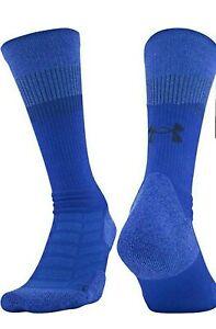 NWT Under Armour UA 3.0 Blue Training Athletic Crew Socks Men 4-8/Women 6-9