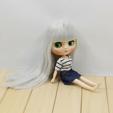 """8"""" Neo Middle Blythe Doll Silvery Hair Nude Doll from Factory JSM01+Gift"""