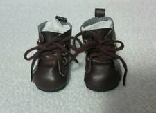 "Fits 18"" Magic Attic Doll - Brown Tie Hiking Boots - Shoes - D1691"