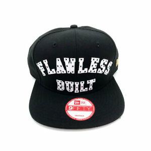 New Era x Secret Society FLAWLESS Built 9FIFTY Snapback Black Hat Cap NWT