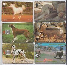 ANIMALS - 6 fine used phone cards from Oman Croatia Antigua and Barbuda