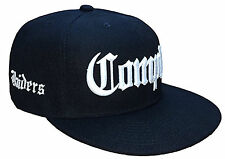 Black & White Compton Raiders Flat Bill Snapback Cap Caps Hat Hats Los Angeles
