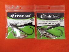 FISH HEAD Weedless Fish Head Spin (1/2oz)(1ea/2ttl) #1201207 SOMKIN SHAD (2pk)