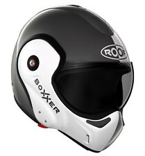 Motorrad Helm ROOF New Boxxer Farbe: Face Metal/ Weiß Gr: SM (57