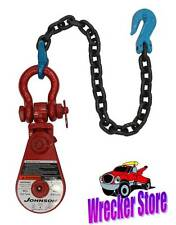 4 TON GUNNEBO JOHNSON SNATCH BLOCK with Chain for WRECKER, TOW TRUCK, ROLLBACK