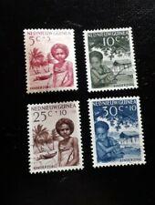 Nederlands Nieuw Guinea nrs 45 - 48 gestempeld jaar 1957 (a3, 11, 1597)