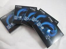 TDK Life on Record 5 Pack BD-R Disc Regular Jewel Case - 25GB 1-6X NOS