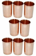 Zap Impex® Bicchiere rame vetro 100% puro rame Tumbler Healing Set di 8 (d7Q)