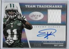 JEREMY KERLEY 2013 LIMITED TEAM TRADEMARKS GAME USED JERSEY AUTO /25 NY JETS SP!