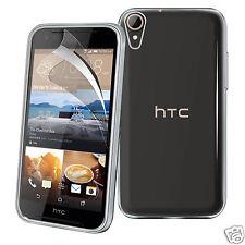 Tough mince transparent tpu gel étui housse & écran protection pour HTC Desire 830