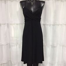 SIZE 8 - NWT $448 TAHARI Black Spaghetti Straps Evening Dress