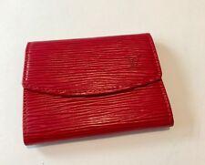Louis Vuitton Ludlow Cartera soporte tarjeta de crédito, Epi de cuero rojo 100% Genuino