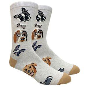 Graphic Crew Socks Novelty Cat Dog Lovers Leopard Golf Cali Republic Surf 10-13