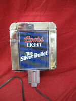 Vintage Coors Light The Silver Bullet Wall Lamp 1988