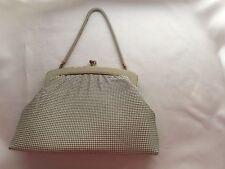 Vintage 1970s Oroton beige Gardenia mesh evening bag hand bag clutch handbag