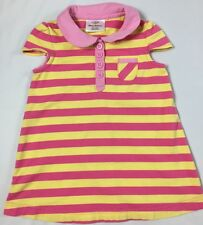 Cute Hanna Andersson Girls size 80 (10-24 Months) Pink And Yellow Stripe Dress