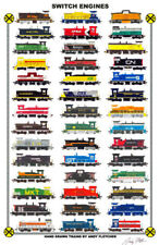 "Switch Engines #1 11""x17"" Poster Andy Fletcher signed"