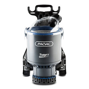 Pacvac Thrift 650 Commercial Backpack Vacuum Cleaner w/ 1 Cloth & 2 Paper bag