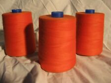 Serger Industrial Polyster Thread -12,000 Yard Spools - Devil Red (Orange)