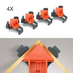4X Woodworking 90°Right Angle Picture Frame Corner Clamp Clip Holder Tools