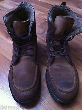 BUFFALO * Herren * Leder Boots * Gefüttert * Braun * Größe: EU 41