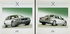 Prospekt Jaguar X Type Bildprospekt 2 Stück ohne Text Autoprospekt Auto PKW