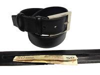 Cinturon de Piel Con Cremallera Monedero Oculta