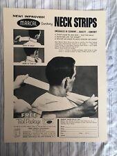 Vintage 1950 BARBER NECK STRIP MARCAL PAPER SANITARY Sign/Ad