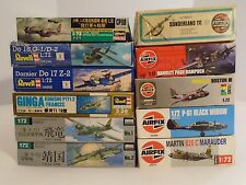 Lot of 11 1/72 WWII Multi-Engine Aircraft P-61 B-26 Do17Z Do18G Ki45 Ki67 etc.