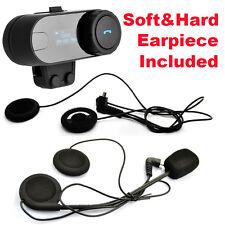 TCOM-SC w/LCD Screen Helmet Bluetooth Intercom Headset Interphone+Soft Earpiece