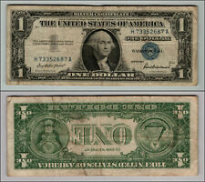1957 1-SILVER-CERTIFICATE-BLUE-SEAL-NICE  CIRCULATED -PIECE-OF-HISTORY-J453