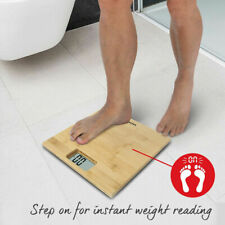 Salter Bamboo Digital Bathroom Scales Weight Electric scale Diet Fitness Gym UK