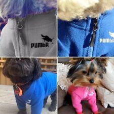 DOG PUPPY PET CAT FLEECE PUMBA SWEATSHIRT ZIP UP JUMPER CLOTHING PINK BLUE GREY