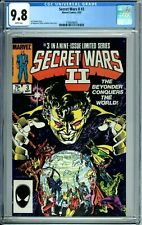 SECRET WARS II 3 CGC 9.8 WP 1st FULL BEYONDER PERMANENT FORM NewCase MARVEL 1985