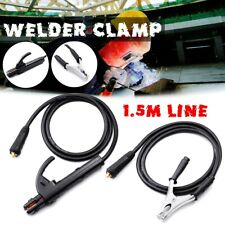 For MIG TIG ARC Welder 59 inch Cable 10-25 300A Groud Welding Earth Clamp Clip