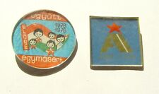 t179 Hungary excellent pioneer ELORE Communist pin lot