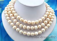 """pink freshwater pearl necklace 50"""" 12x13mm baroque baby"""