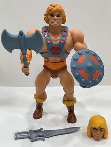 Vintage Masters Of The Universe He-man 1985 ROBOTO ARGENT NO STAMP GUN MITRAILLEUSE arme accessoire