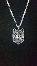 "Shiba Inu Dog Necklace, Pendant, 18"" Chain, Jewelry"
