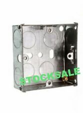 FLUSH MOUNT METAL ELECTRIC BACK BOX SINGLE 1 GANG 47MM Sockets